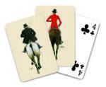 Vier Treff Jagdreiter Karten-Set