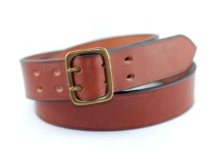 Faizey Military Belt, cognac