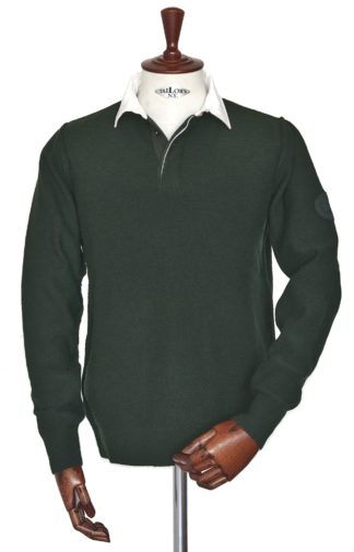 Barbour Counter LS Polo racing green