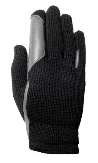 W&F Reithandschuh Allrounder grey black