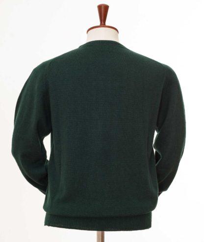 William Lockie Cashmere Rundhals dunkelgrün