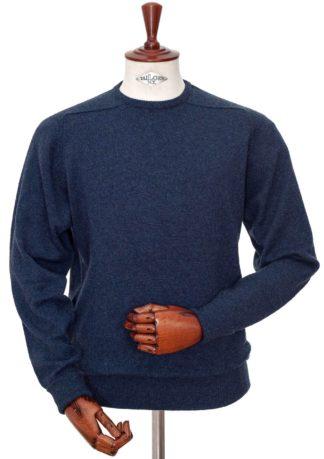 William Lockie Cashmere Pullover dunkelblau meliert