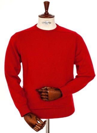 William Lockie Cashmere Pullover rot