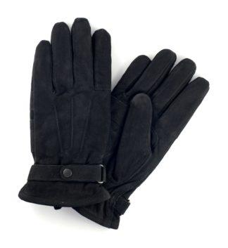 Barbour Nubukleder Handschuhe, schwarz
