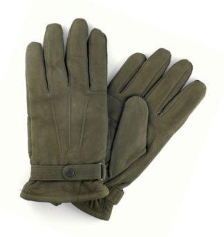 Barbour Nubukleder Handschuhe, oliv