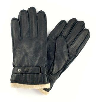Barbour Leder-Handschuhe, schwarz