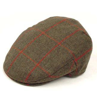 Christys' Balmoral Tweed Flat Cap, window check
