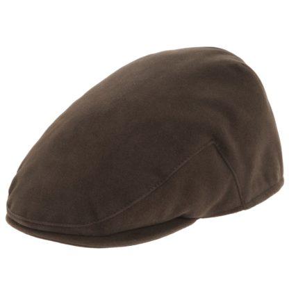 Balmoral Moleskin Flat Cap, braun