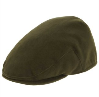 Balmoral Moleskin Flat Cap, oliv