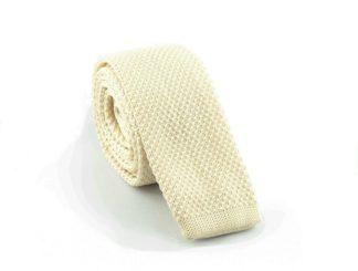 Strick-Krawatte, crème