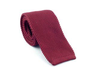 Strick-Krawatte, bordeaux