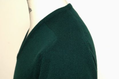 Cashmere V-Kragen Pullover, dunkelgrün