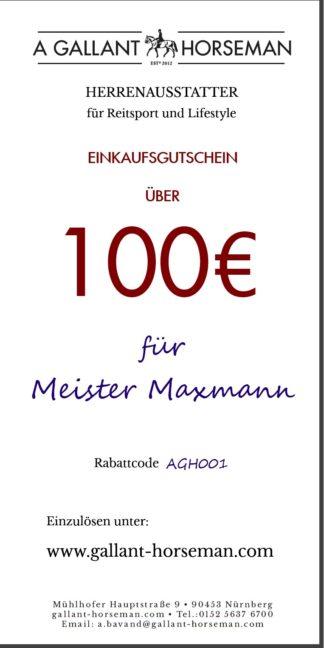 A GALLANT HORSEMAN - 100€ Geschenk-Gutschein