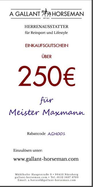 A GALLANT HORSEMAN - 250€ Geschenk-Gutschein