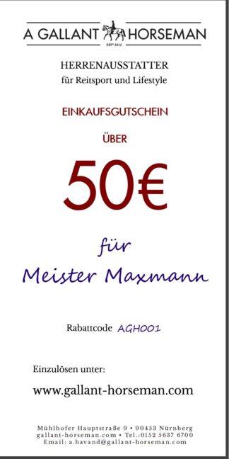 A GALLANT HORSEMAN 50€ Geschenk-Gutschein