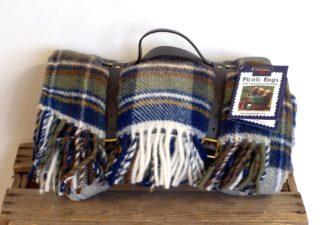 Tweedmill Picknick-Decke Polo, Blue Stewart Tartan