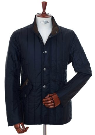 Barbour Steppjacke Shed navy