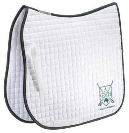 EQuest Turnierschabracke AGH Cotton Quattro, weiß-grün