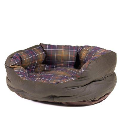 Barbour Hundebett Wax Cotton Dog Bed M