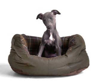 Barbour Hundebett Wax Cotton Dog Bed