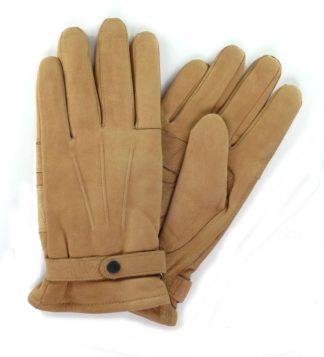 Barbour Nubukleder Handschuh, beige