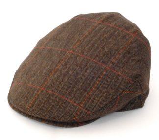 Christys Balmoral Tweed Flat Cap, herringbone windowcheck