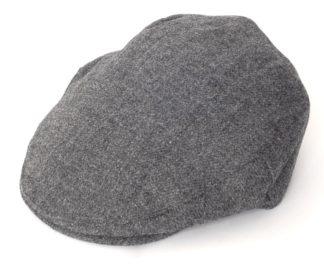 Christys Balmoral Tweed Flat Cap, royal grey