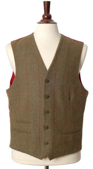 Alan Paine Tweed Weste Compton, sage