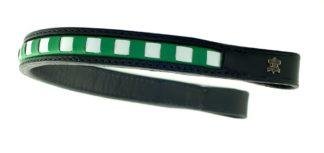 Döbert Leder-Stirnband, grün-weiß