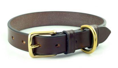 Hardy & Parsons Hundehalsband Bridle Leather, dunkelbraun
