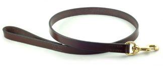 Hardy & Parsons Hundeleine Bridle Leather, dunkelbraun