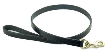 Hardy & Parsons Hundeleine Bridle Leather, schwarz