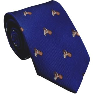 Seiden-Krawatte Pferdchen, navy