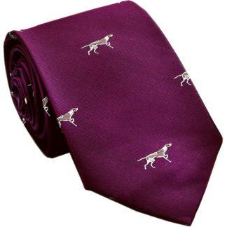 Seiden-Krawatte Pointer, bordeaux