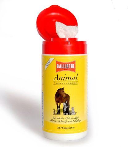 BALLISTOL Animal Tierpflegeöl, Tücher-Spenderbox