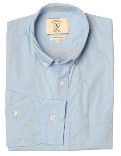 Aigle Baumwollhemd Barkyshirt, hellblau