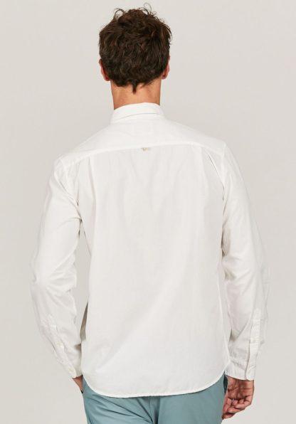 Aigle Baumwollhemd Barkyshirt, weiß