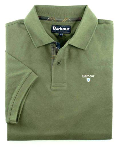 Barbour Tartan Pique Polo-Shirt, blassgrün