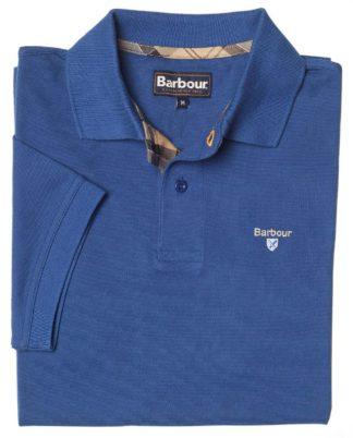 Barbour Tartan Pique Polo-Shirt, ultramarin