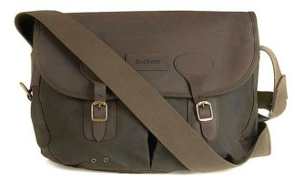 Barbour Wax Leather Tarras Tasche, olive