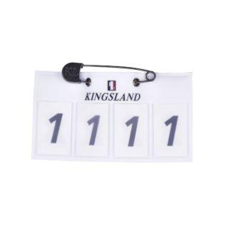 Kingsland Startnummern 4-stellig, weiß