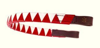 Döbert Stirnriemen braun gezackt, rot-weiß