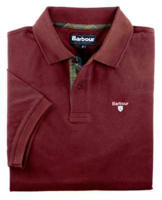 Barbour Tartan Pique Polo-Shirt, bordeaux