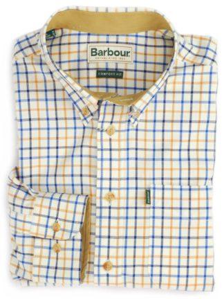 Barbour Hemd SP Tattersall, blau/gelb