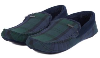 Barbour Monty Haus-Slipper, Black Watch Tartan