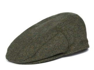 Barbour Flat Cap Moons Tweed, oliv
