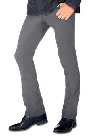 Jodhpur-Reithose Herren Vollbesatz, grau