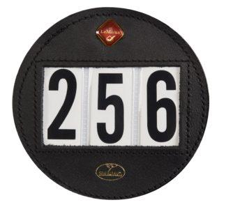 LeMieux Startnummernhalter rund, schwarz