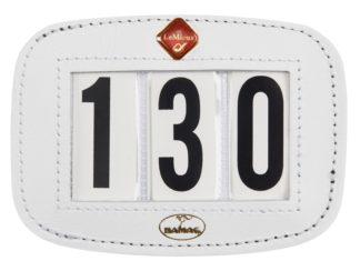 LeMieux Startnummernhalter, weiß