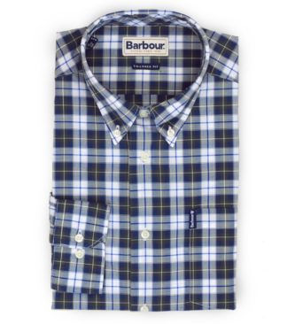 Barbour Hemd Highland Check, oliv